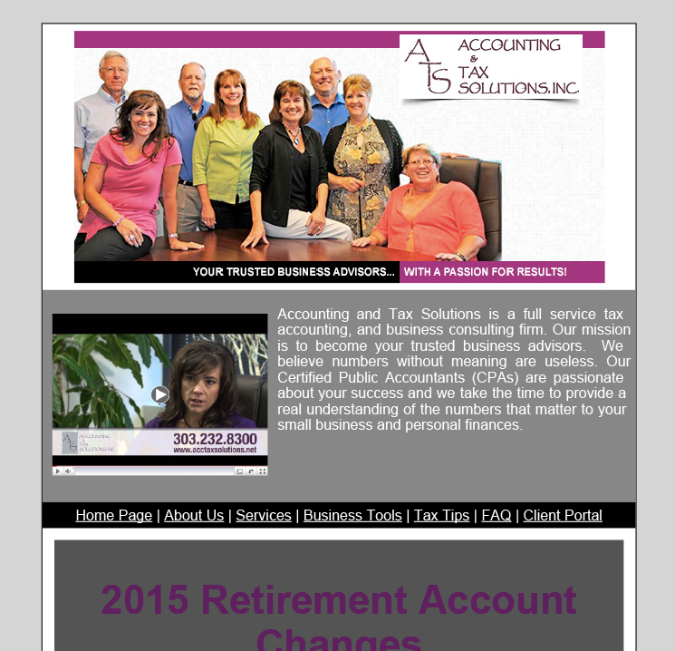 2015 Retirement Account Changes