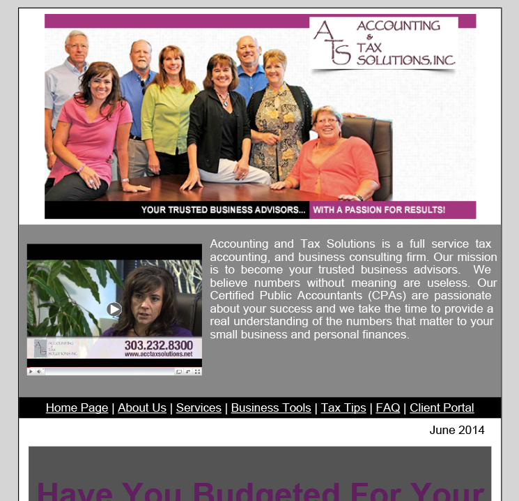 June 2014 Newsletter – Vacation Planning